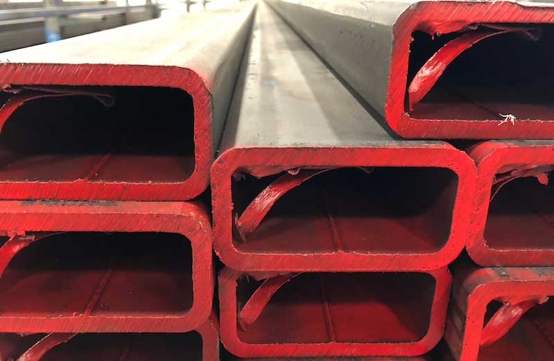 "1 1//2/"" x 2 1//2/"" x .120/"" Carbon Steel Rect Tube A500 x 78/"""